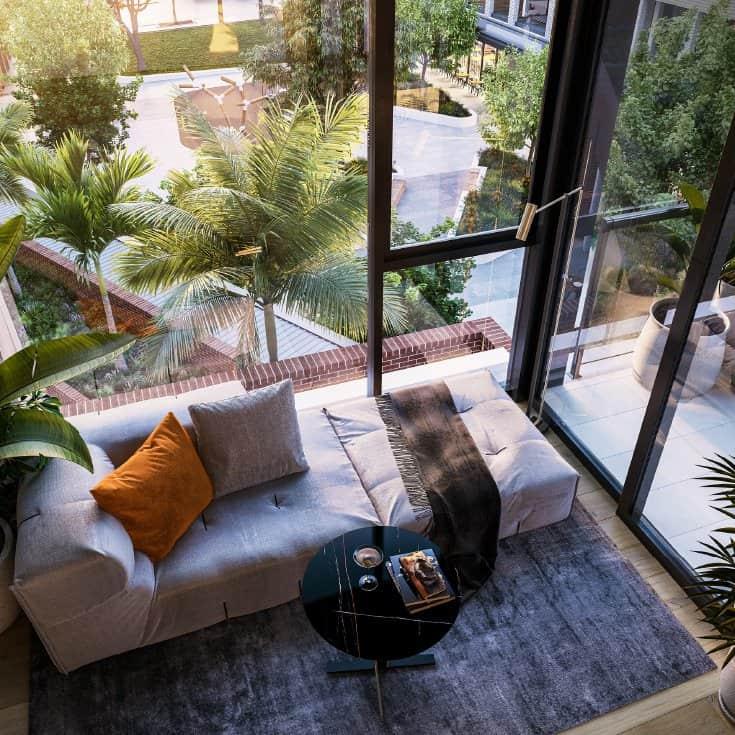 Thiết kế xanh hiện đại giúp gia chủ vui sống tận hưởng ánh nắng và vẻ đẹp thiên nhiên