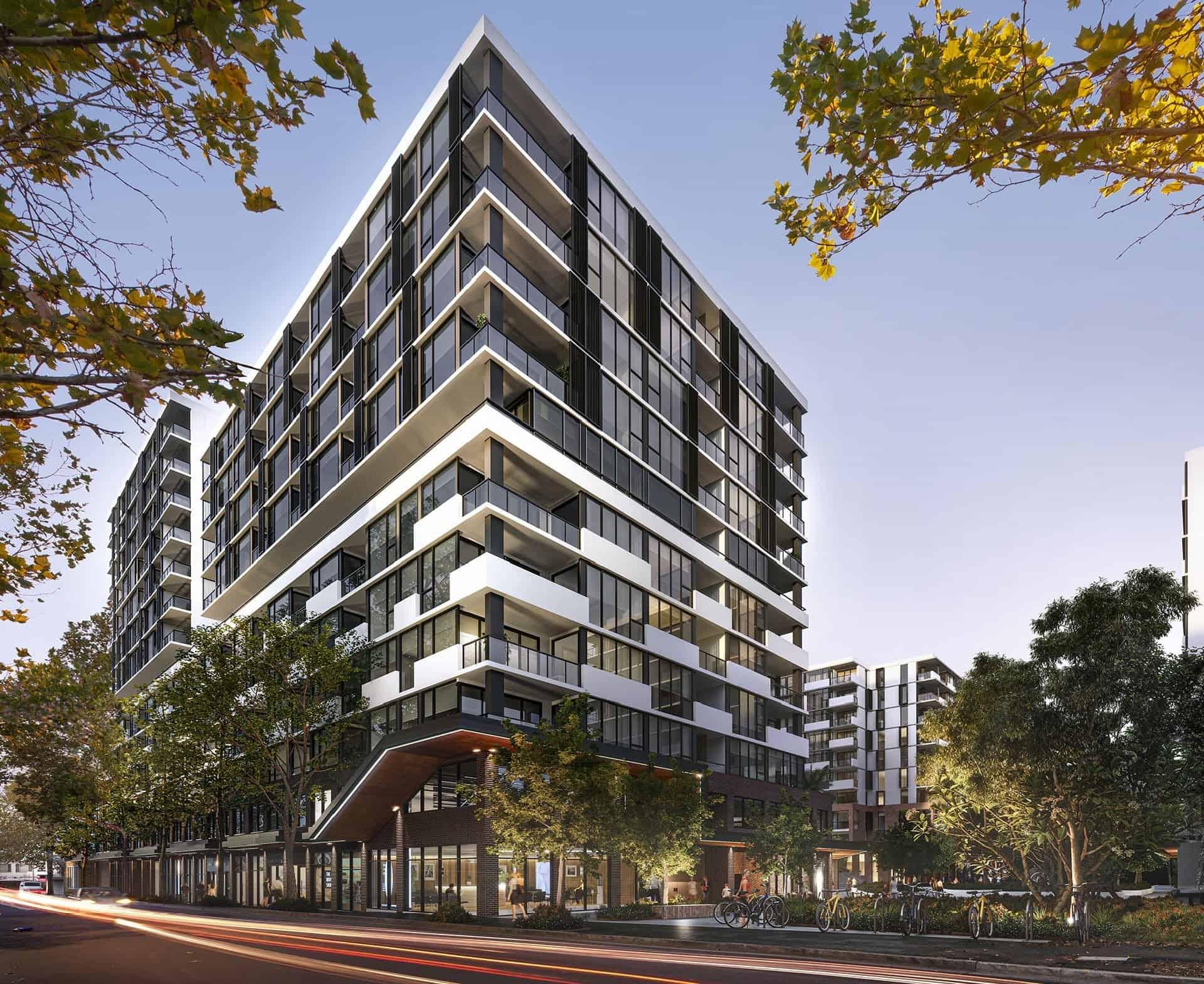 Phối cảnh dự án Spring Square Bankstown Australia