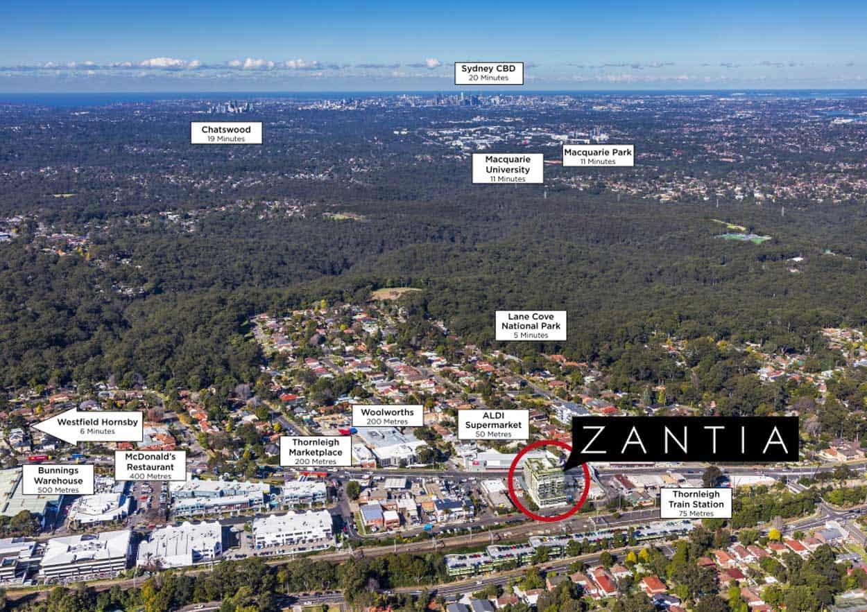Vị trí dự án Zantia