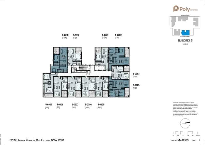 Mặt bằng tầng điển hình dự án Spring Square, Bankstown
